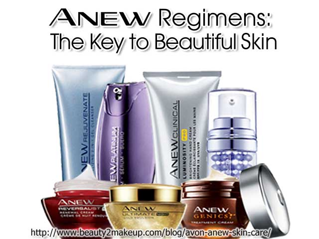 Avon anew anti-aging skin care