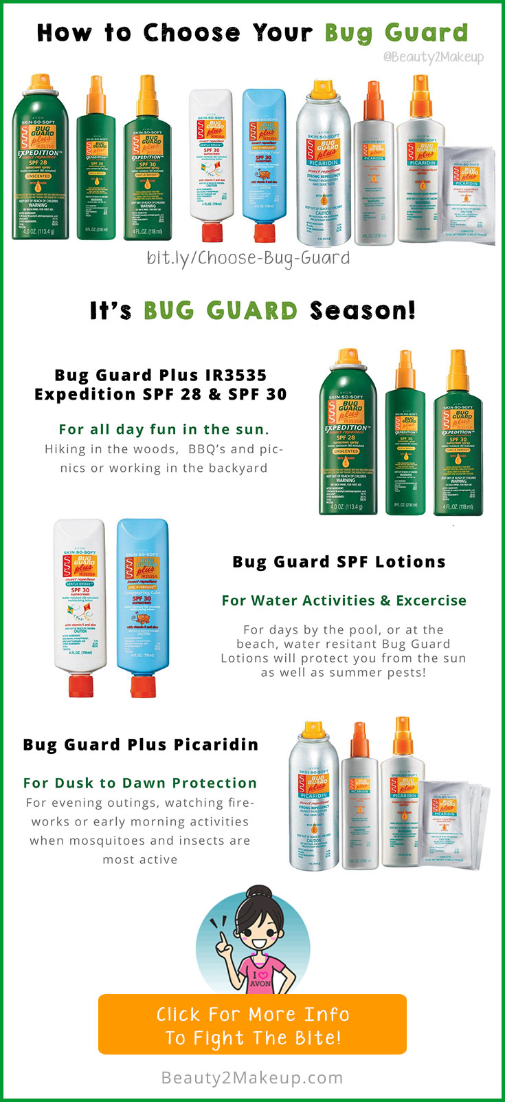 Avon Skin So Soft is great for repelling insects! Find out how to use and which is best for you! Skin So Soft Bug Guard is safe for the whole family