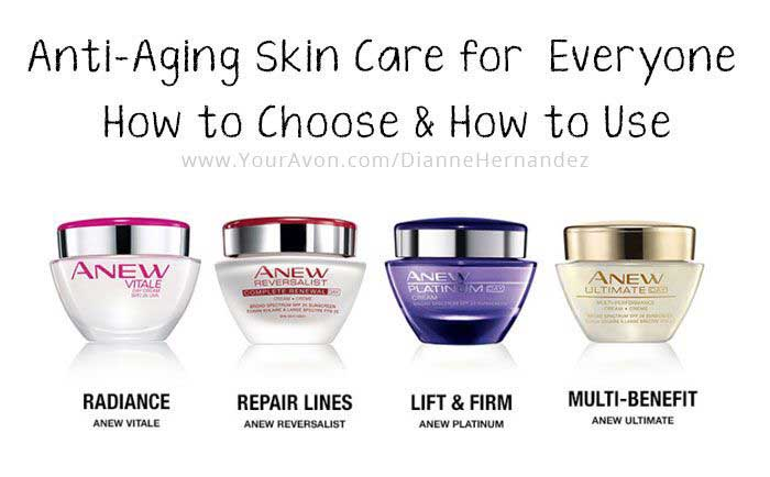 How To Use Avon Anew Skin Care