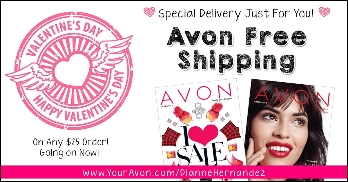 Avon Free Shipping Valentines Day 2017