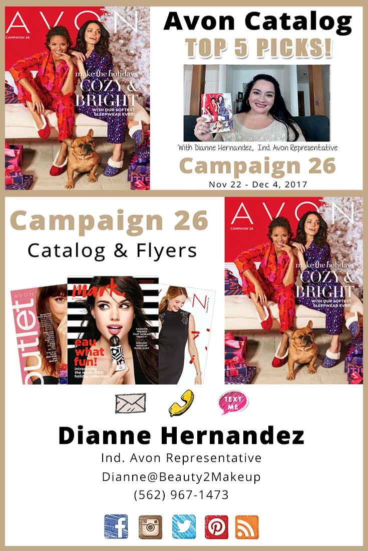 Avon Campaign 26 - Check Out the Latest Sales & Deals Found in the Campaign 26 Avon Catalog Plus Top 5 Favorites and the current Campaign Giveaway