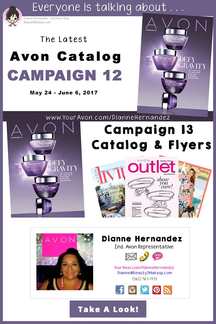 Take a look at the Campaign 13 Avon Catalog June 2017 for the latest sales in Avon Skincare, Makeup, Bath & Body, Fragrance and more!
