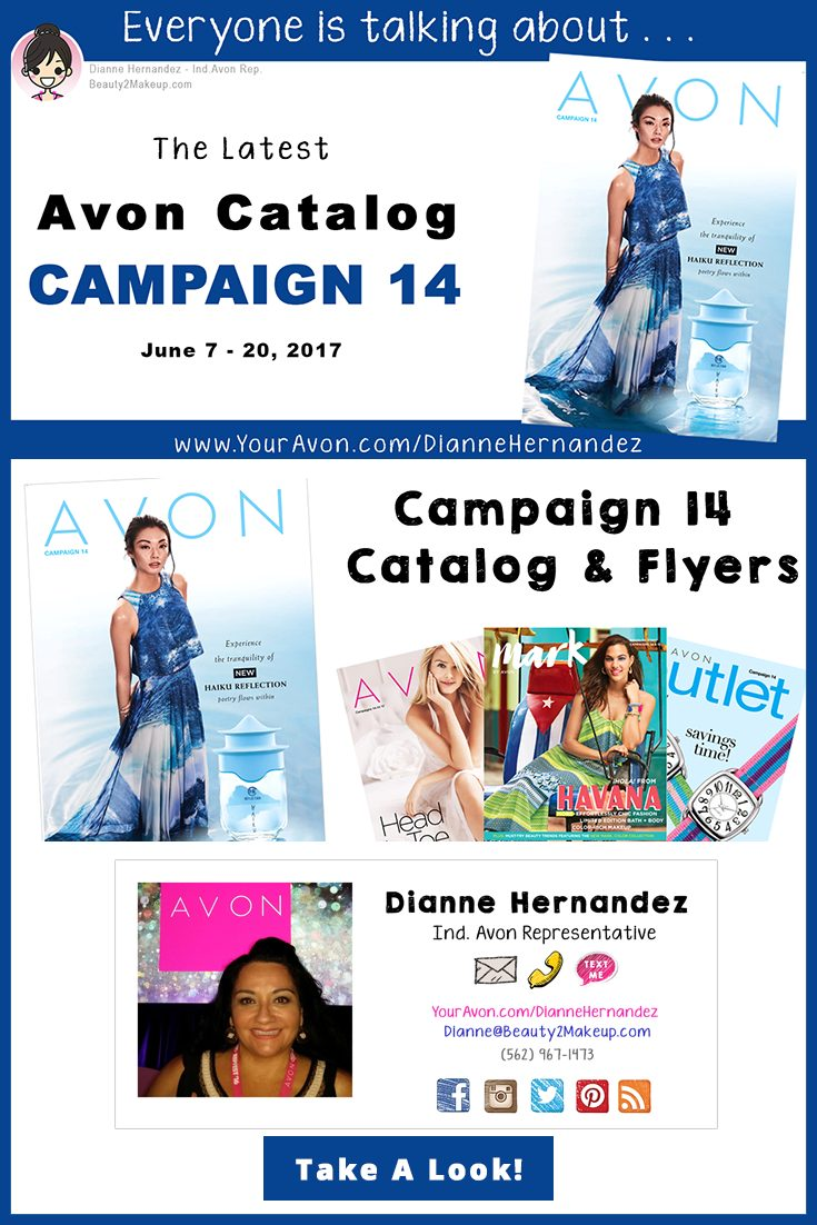 Take a look at the Campaign 14 Avon Catalog June 2017 for the latest sales in Avon Skincare, Makeup, Bath & Body, Fragrance and more!