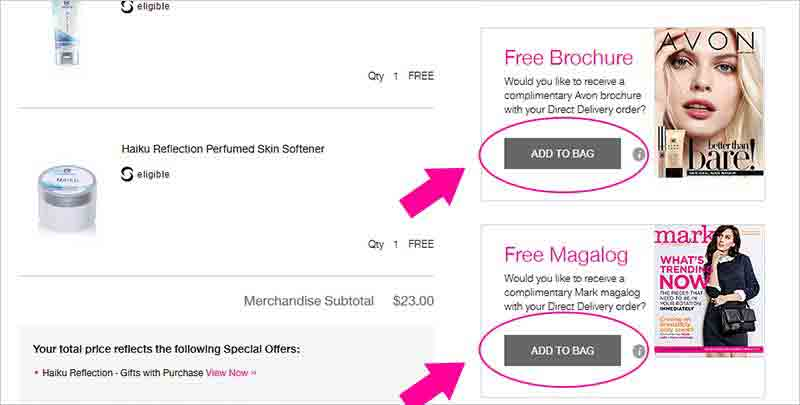 How to add a free Avon Catalog to your Avon Order