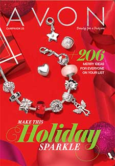 Avon Catalog Campaign 25 Holiday Brochure