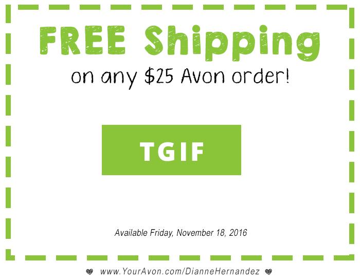 Avon Free Shipping Offer