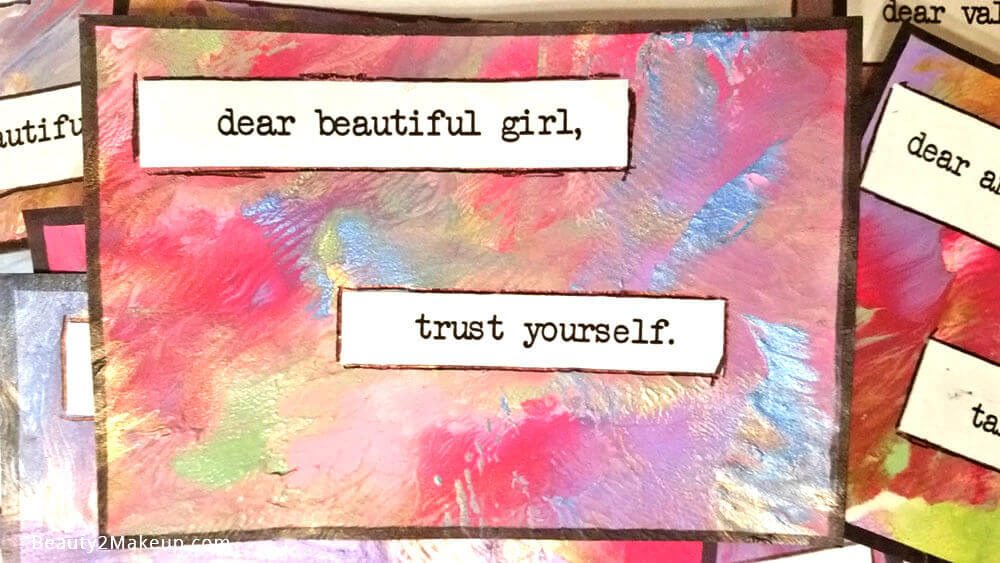 Dear Valuable Girl Truth Card - Giving Back To The Community