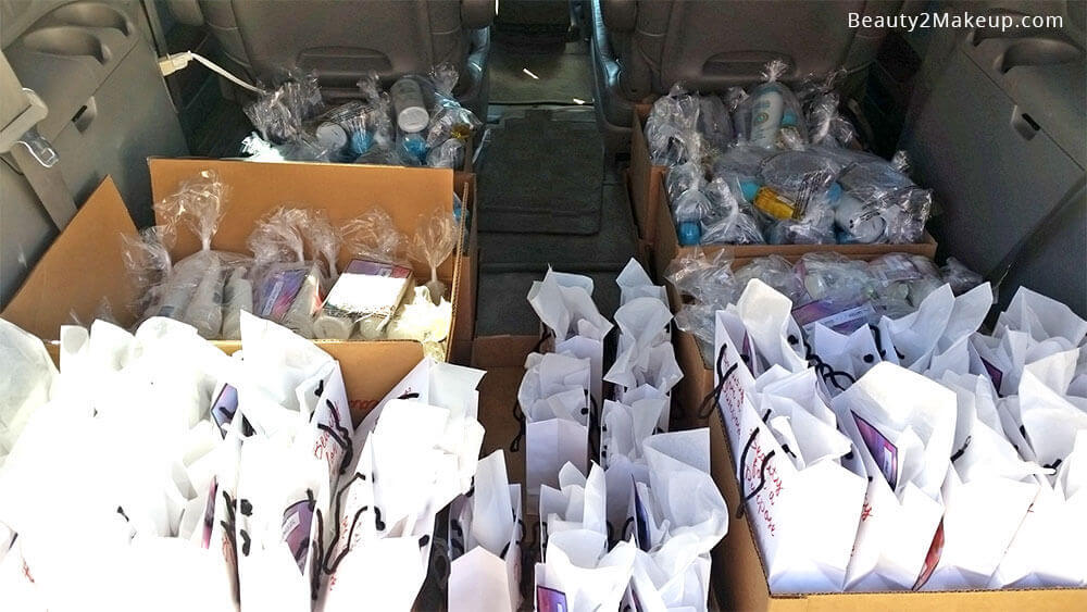 A car load of donations