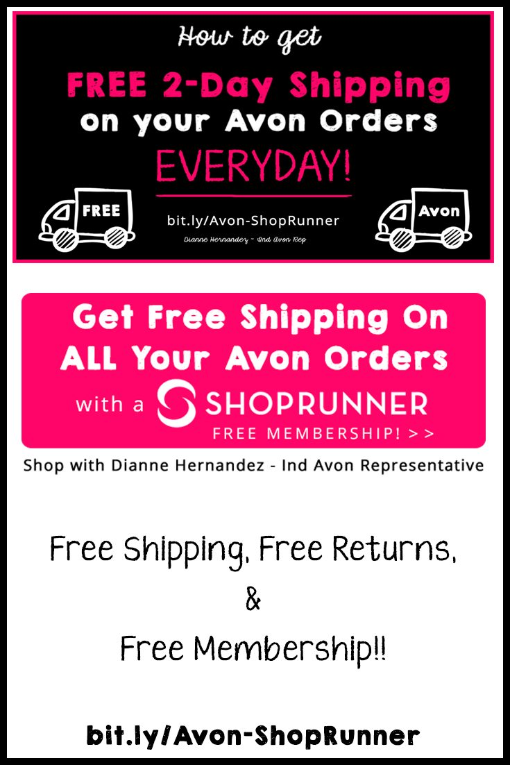 How to get Avon Free Shipping  & Returns all year with a FREE ShopRunner Membership! Must See! via @beauty2makeup