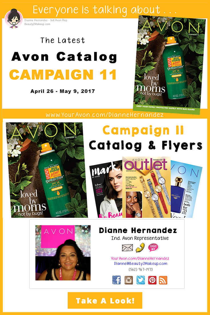 Take a look at the Campaign 11 Avon Catalog April 2017 for the latest sales in Avon Skincare, Makeup, Bath & Body, Fragrance and more!
