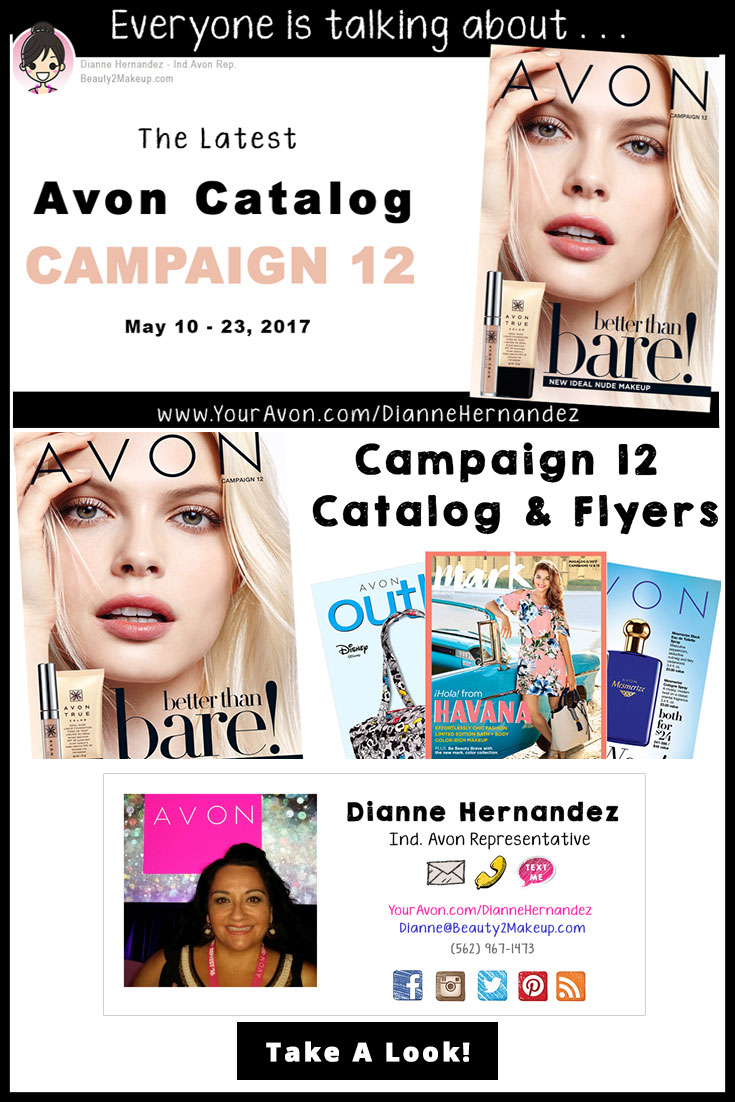 Take a look at the Campaign 12 Avon Catalog April 2017 for the latest sales in Avon Skincare, Makeup, Bath & Body, Fragrance and more!