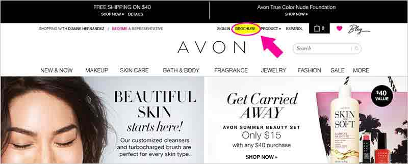 How Shop the Avon Catalog Online