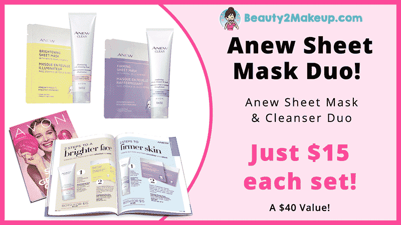 Avon Campaign 21   Top Pick Anew Skin Care Mask and Cleanser Duo