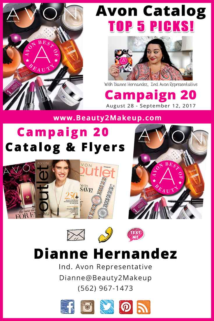 Avon Campaign 20 offers so many great deals! Check Avon's Best of Beauty & my Top 5 Picks from the  plus info on my current giveaway!