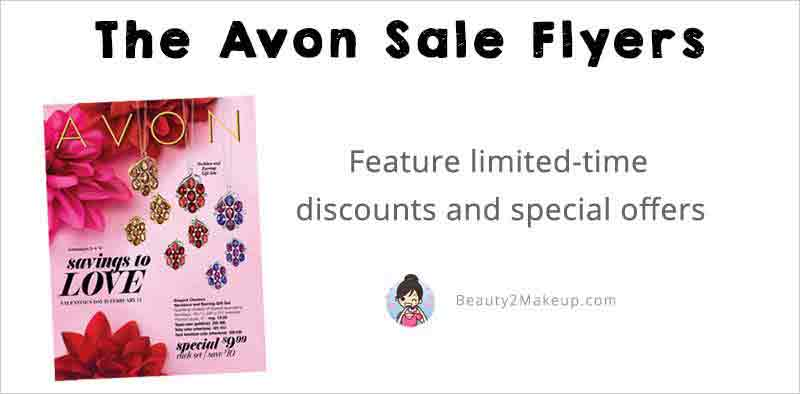 Avon Brochure Sales Flyers: