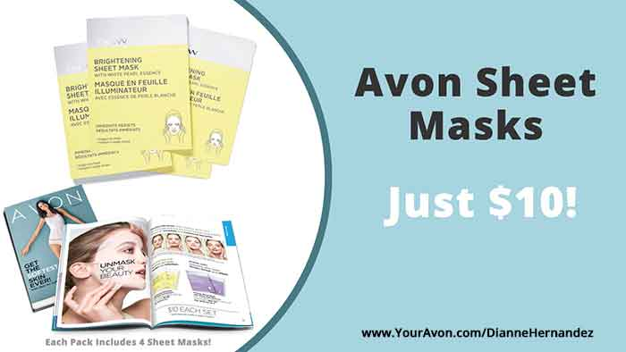 Avon Campaign 18 Sale on Anew Sheet Masks