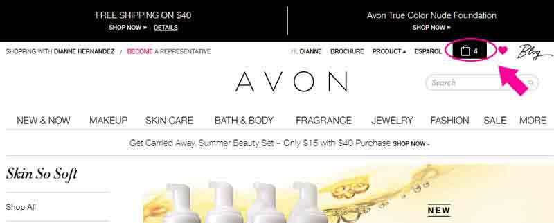 How to make an Avon Catalog Request