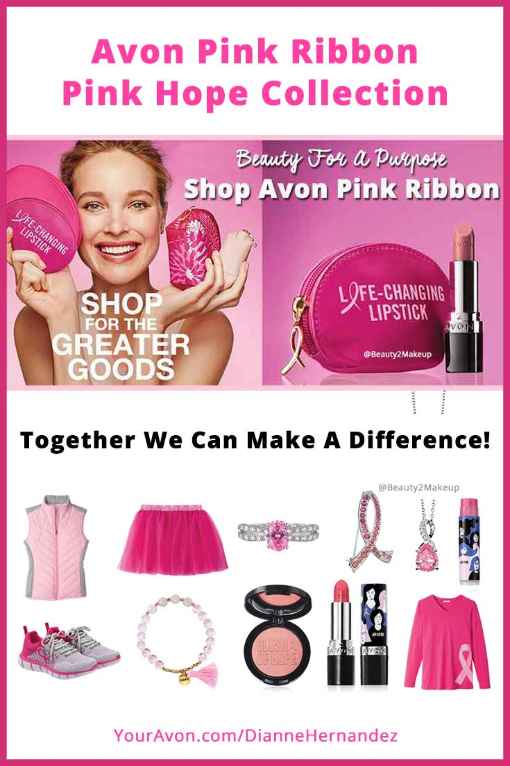 Together we can make a difference and together we can save lives! Raise awareness with Avon's Exclusive Pink Ribbon items. With every Avon Pink Ribbon purchase Avon will  donate a portion of the net profits to the cause. So show your pink pride and your support and remind all the women in your life that October18, 2019 is National Mammogram day. Early detection can make a difference, do it for yourself and encourage women you know to do the same!