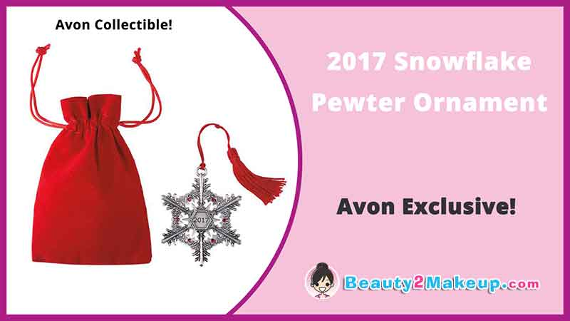 Avon Campaign 24 Holiday Pewter Ornament