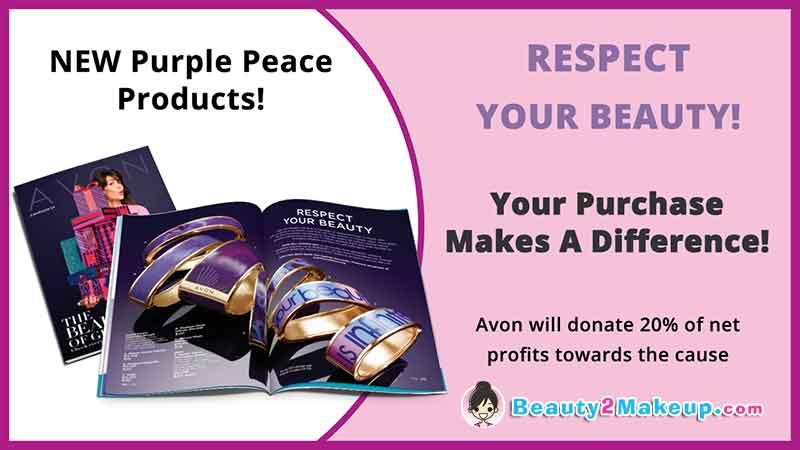 Avon Campaign 24 Purple Peace Products