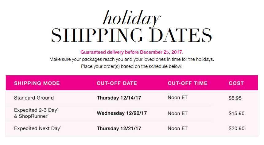 Avon Shipping Dates 2017