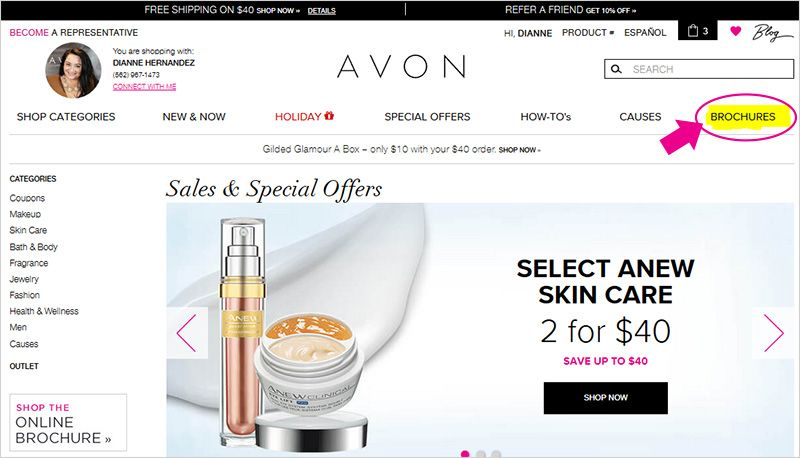 How to view the latest Avon Brochure