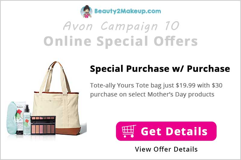 Tote-ally Yours Tote bag for $19.99 with $30 purchase on select products